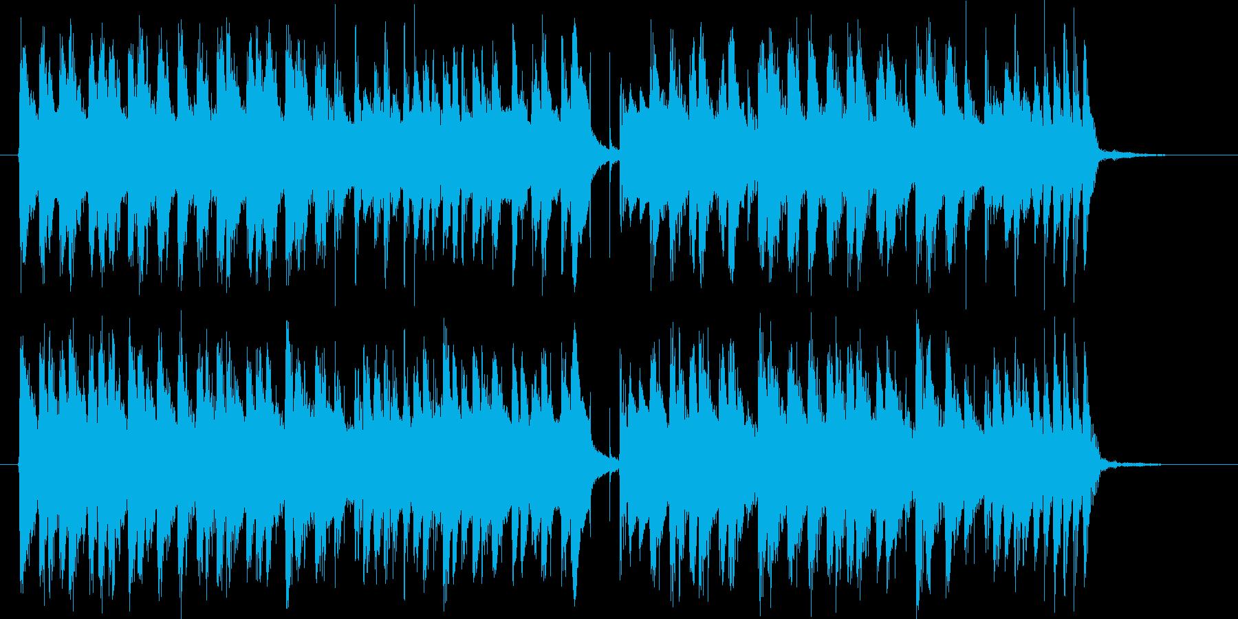 ゆったりと穏やかなシンセジングルの再生済みの波形