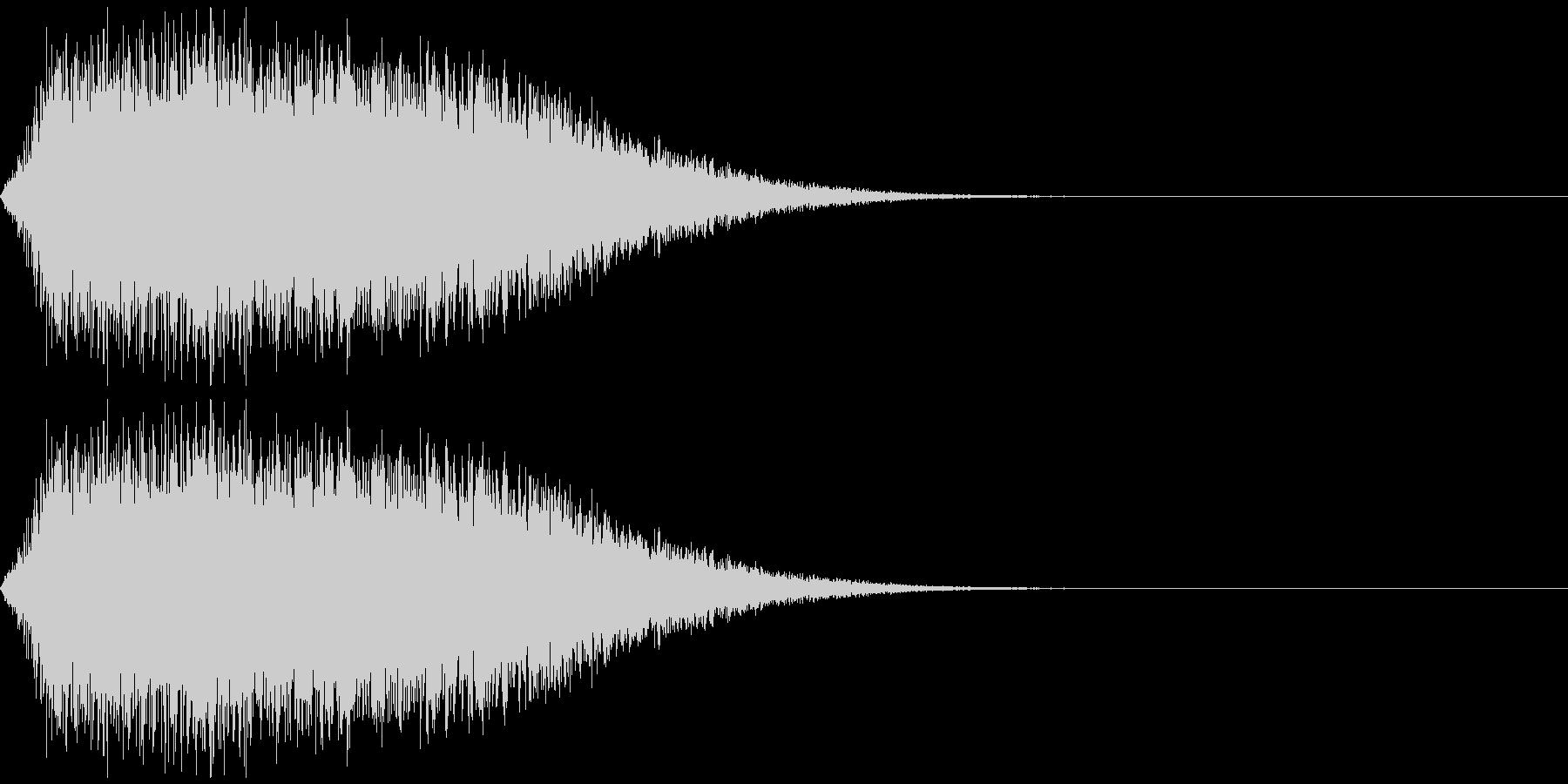 ジェット音、ミサイルの軌跡などをイメージの未再生の波形