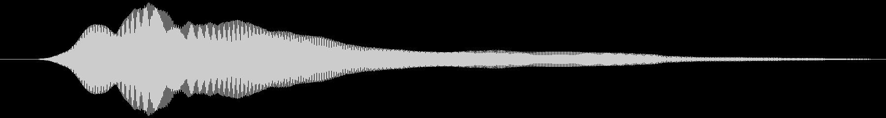 取る風 オノマトペ(下降)ヒュゥの未再生の波形