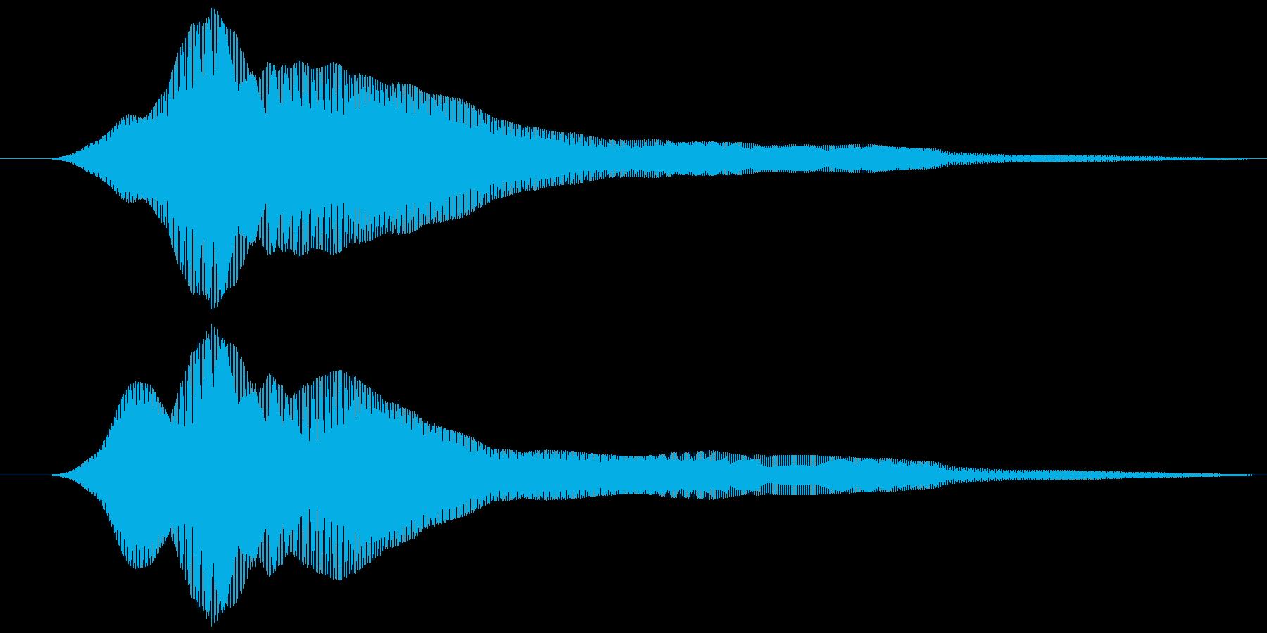 取る風 オノマトペ(下降)ヒュゥの再生済みの波形