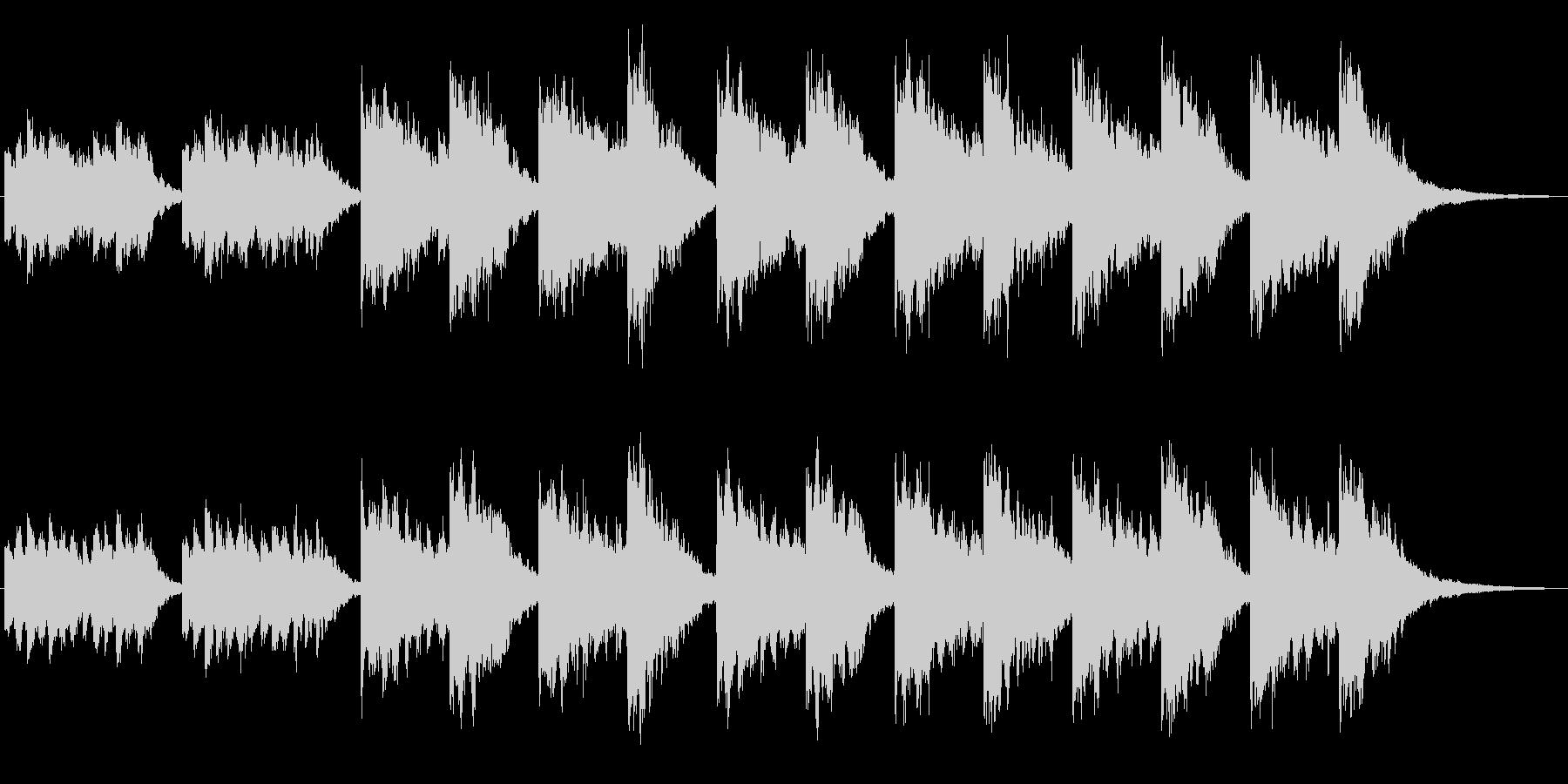 シンセによるキラキラしたジングル2の未再生の波形