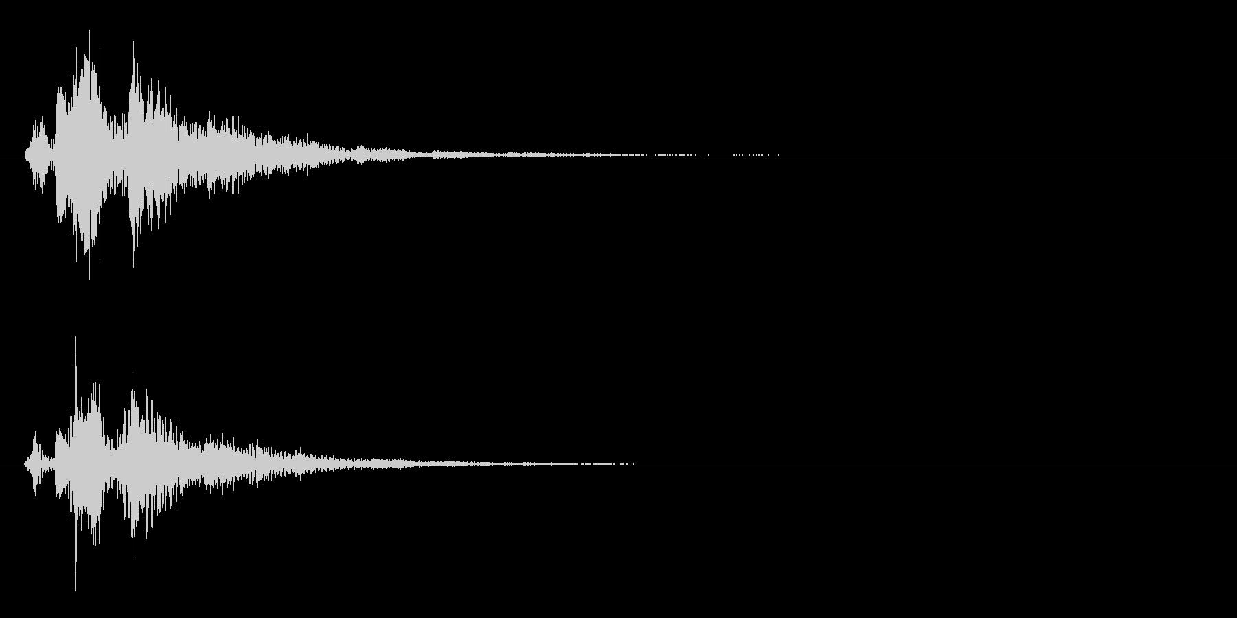 決定音2の未再生の波形