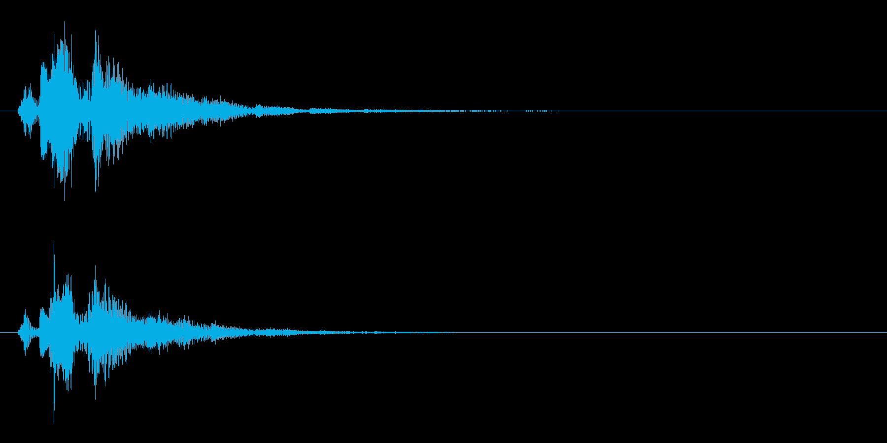 決定音2の再生済みの波形