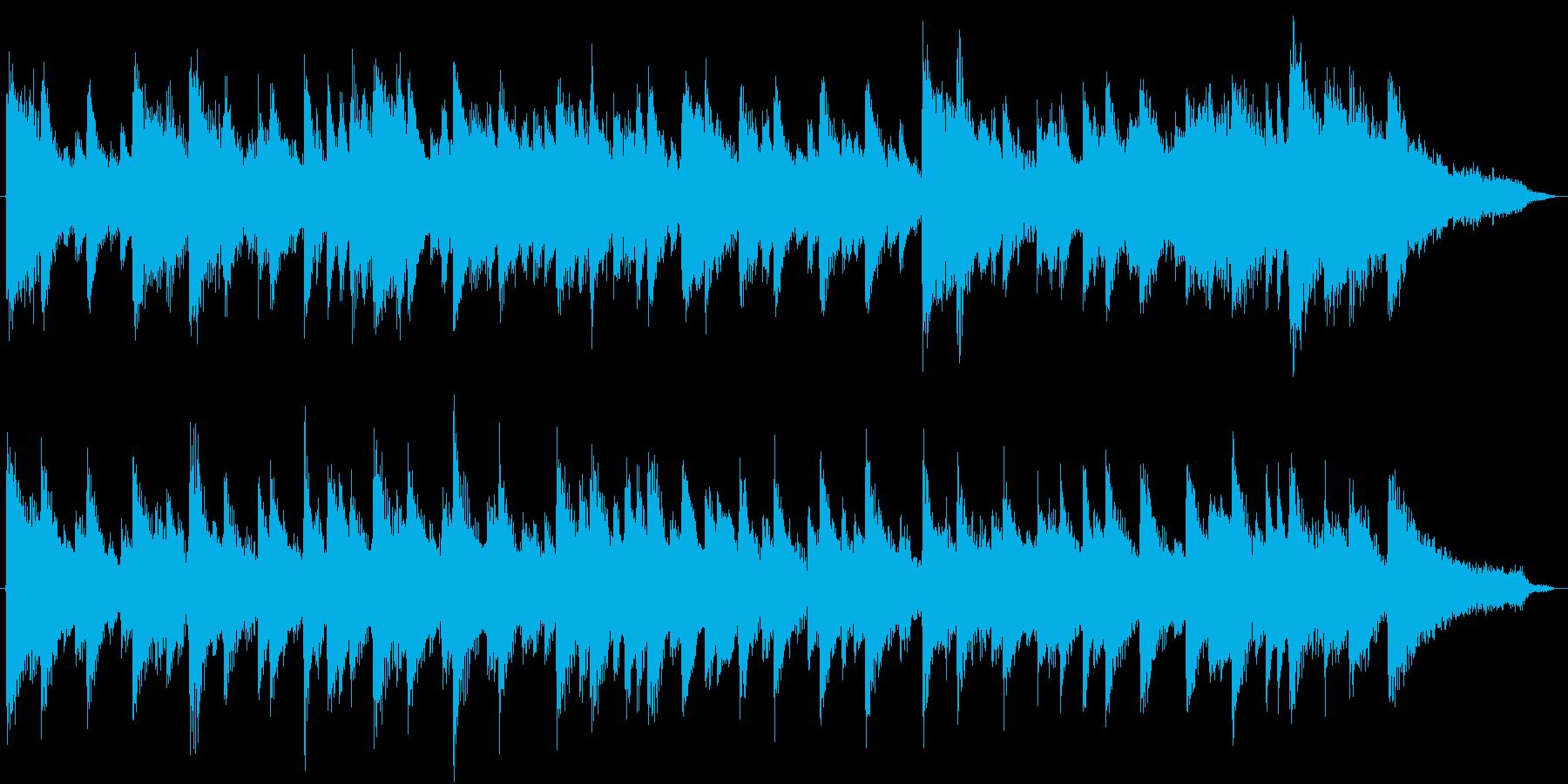 CM用、約30秒。疾走感のあるピアノ楽曲の再生済みの波形