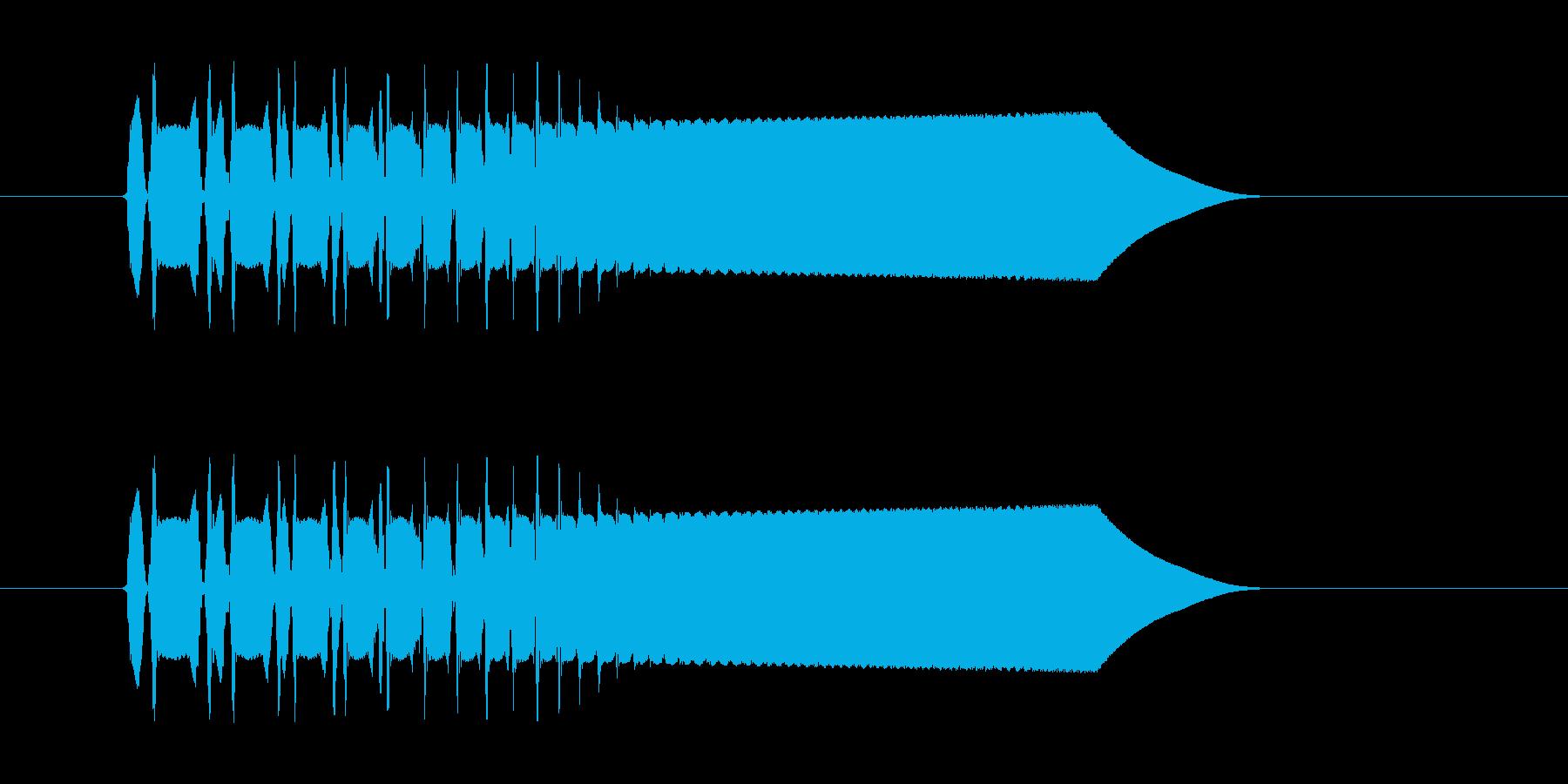 どんどん早くなる、電子音の再生済みの波形