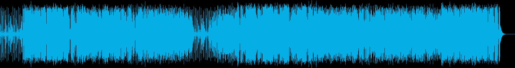 ピアノ・ベース・ドラム編成の舞曲風ジャズの再生済みの波形