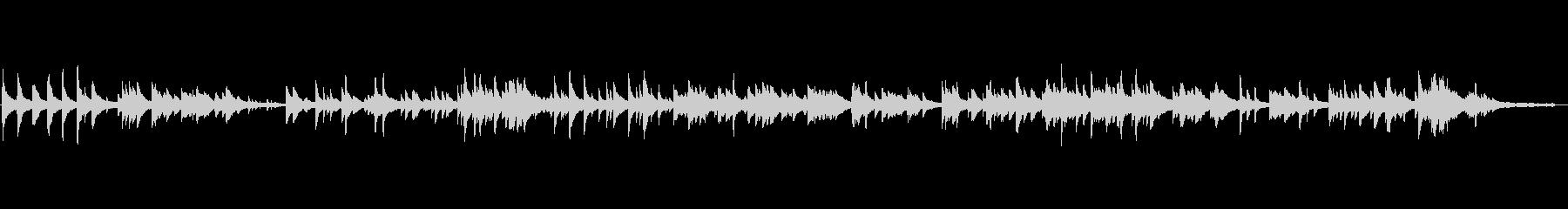 静かなヒーリング・ピアノ曲(柔らかい音色の未再生の波形