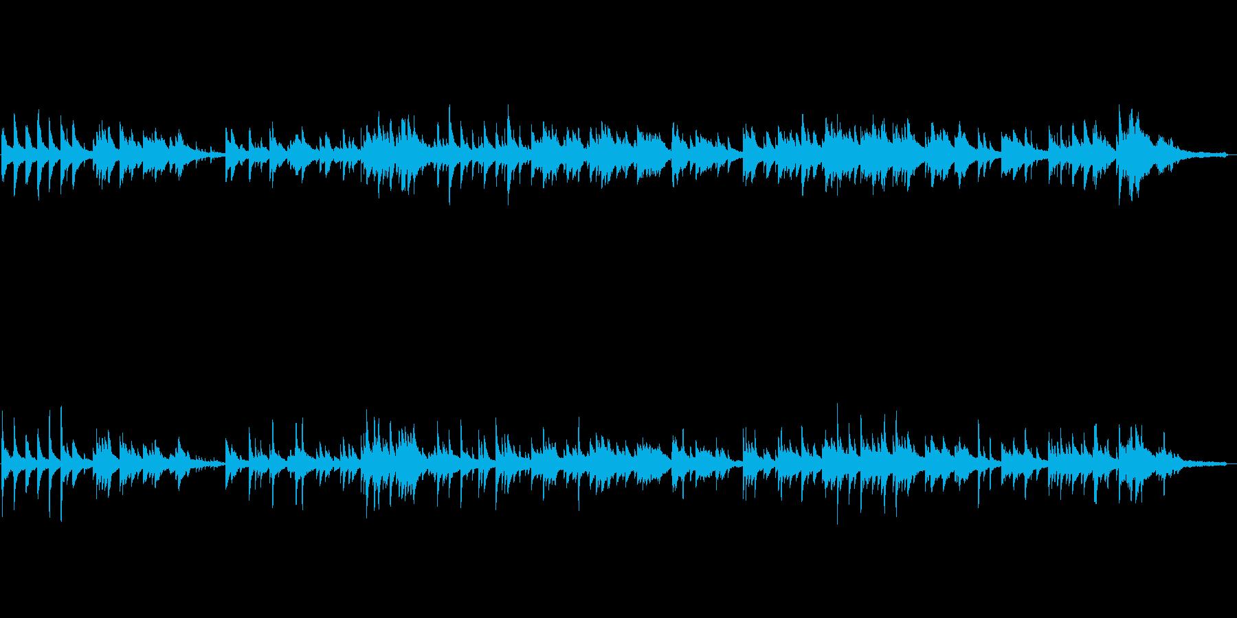 静かなヒーリング・ピアノ曲(柔らかい音色の再生済みの波形