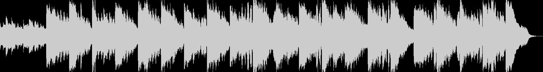 キッズ向けのスローテンポBGMの未再生の波形