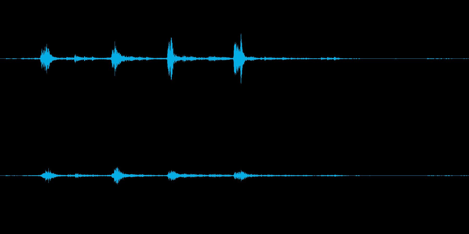 ガラガラ(玄関を開ける音)の再生済みの波形