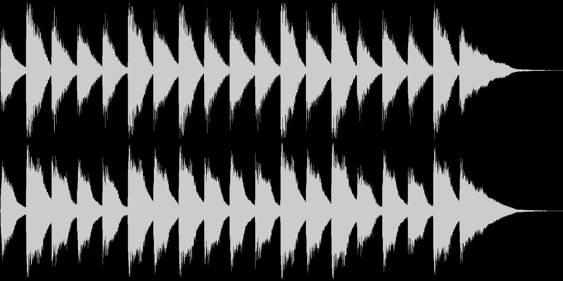 子供と爽やかピアノ、5秒CM、ver.Bの未再生の波形