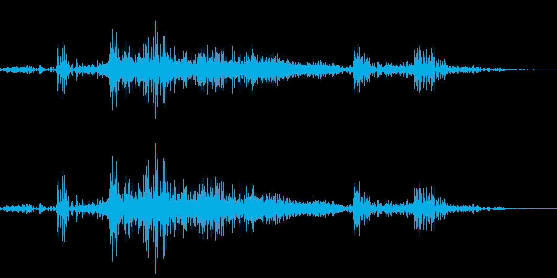 ふすまを閉めるの再生済みの波形