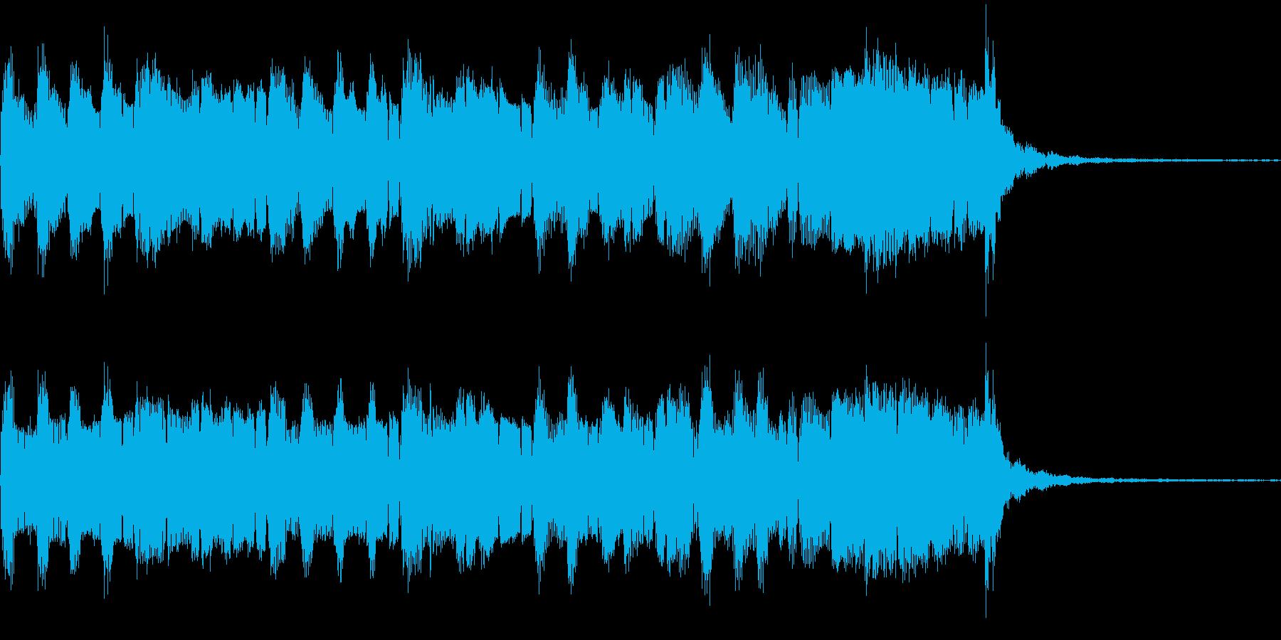 ゆったりとしたジャズ風のBGMの再生済みの波形