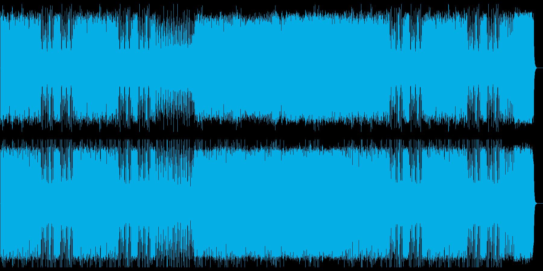 アップテンポなシンセサイザーの曲の再生済みの波形