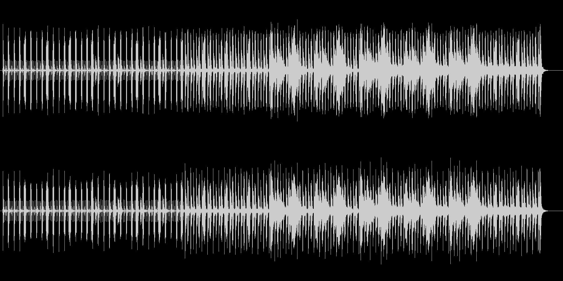 ビートが強調された独特なノリのBGMの未再生の波形