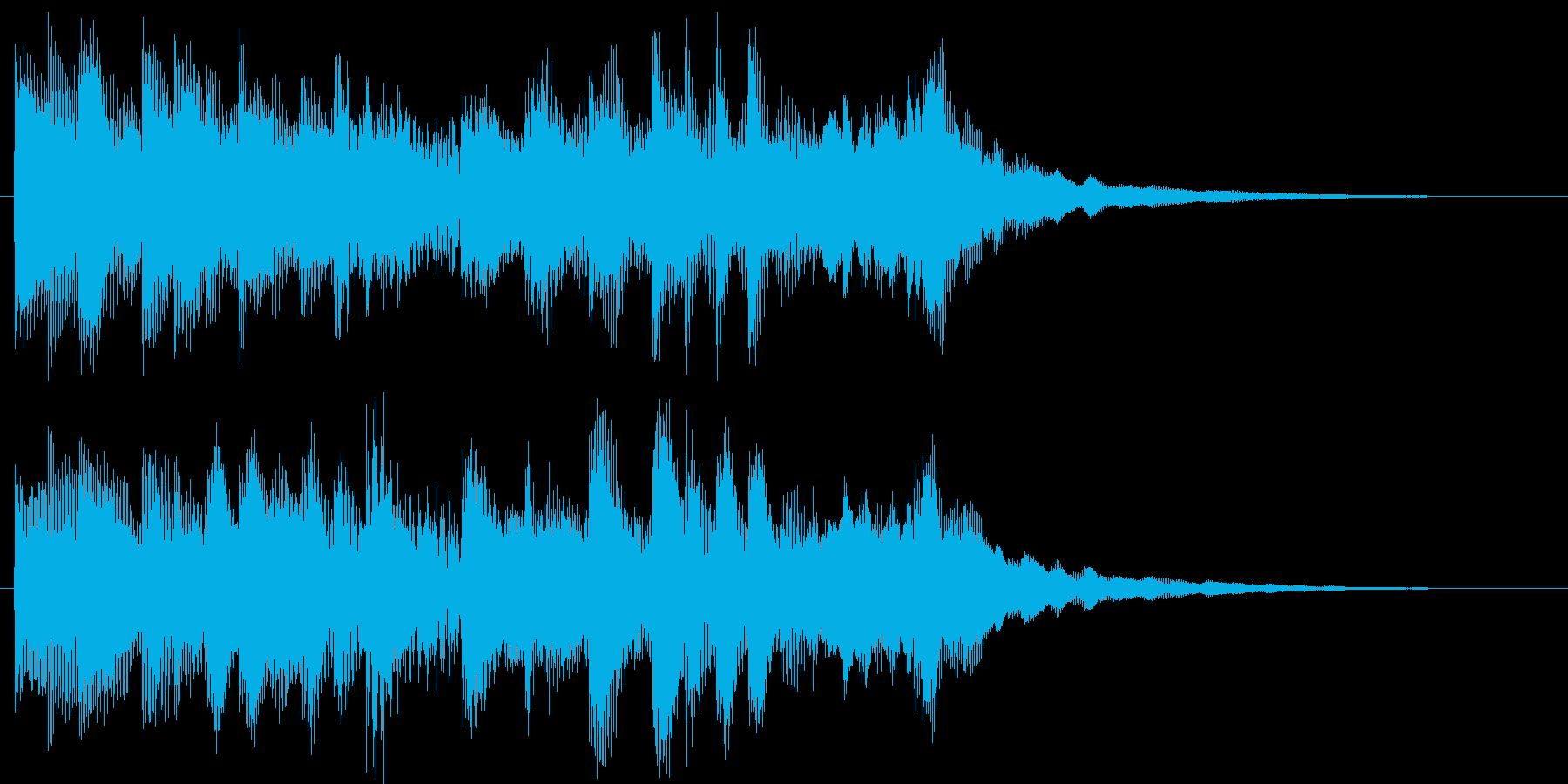 ポップなコールチャイムの再生済みの波形