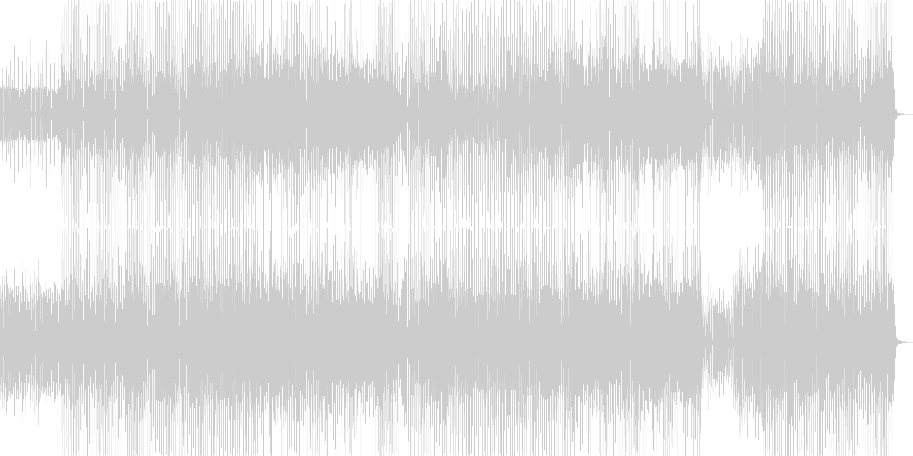 CMショーリールをイメージしたロックですの未再生の波形