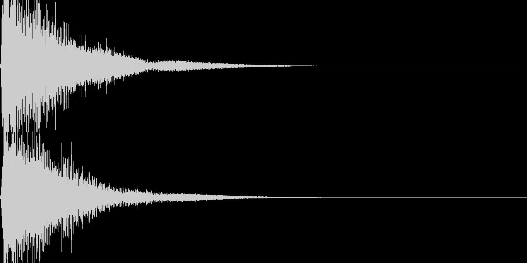 ガキーン!インパクト音。の未再生の波形