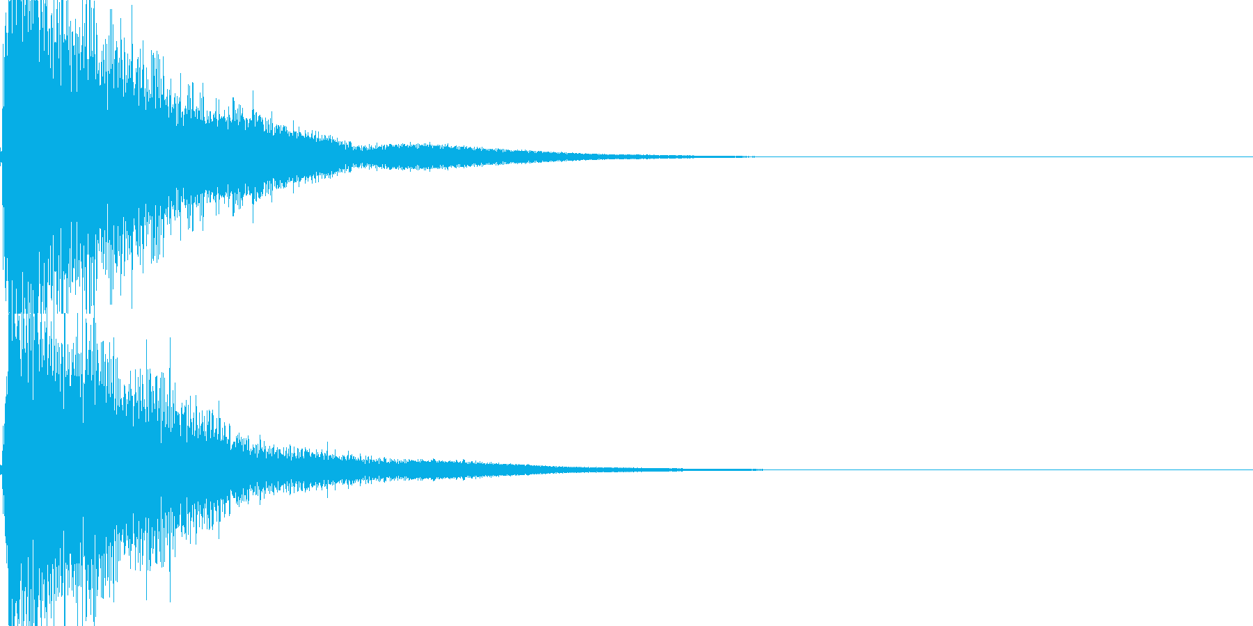 ガキーン!インパクト音。の再生済みの波形