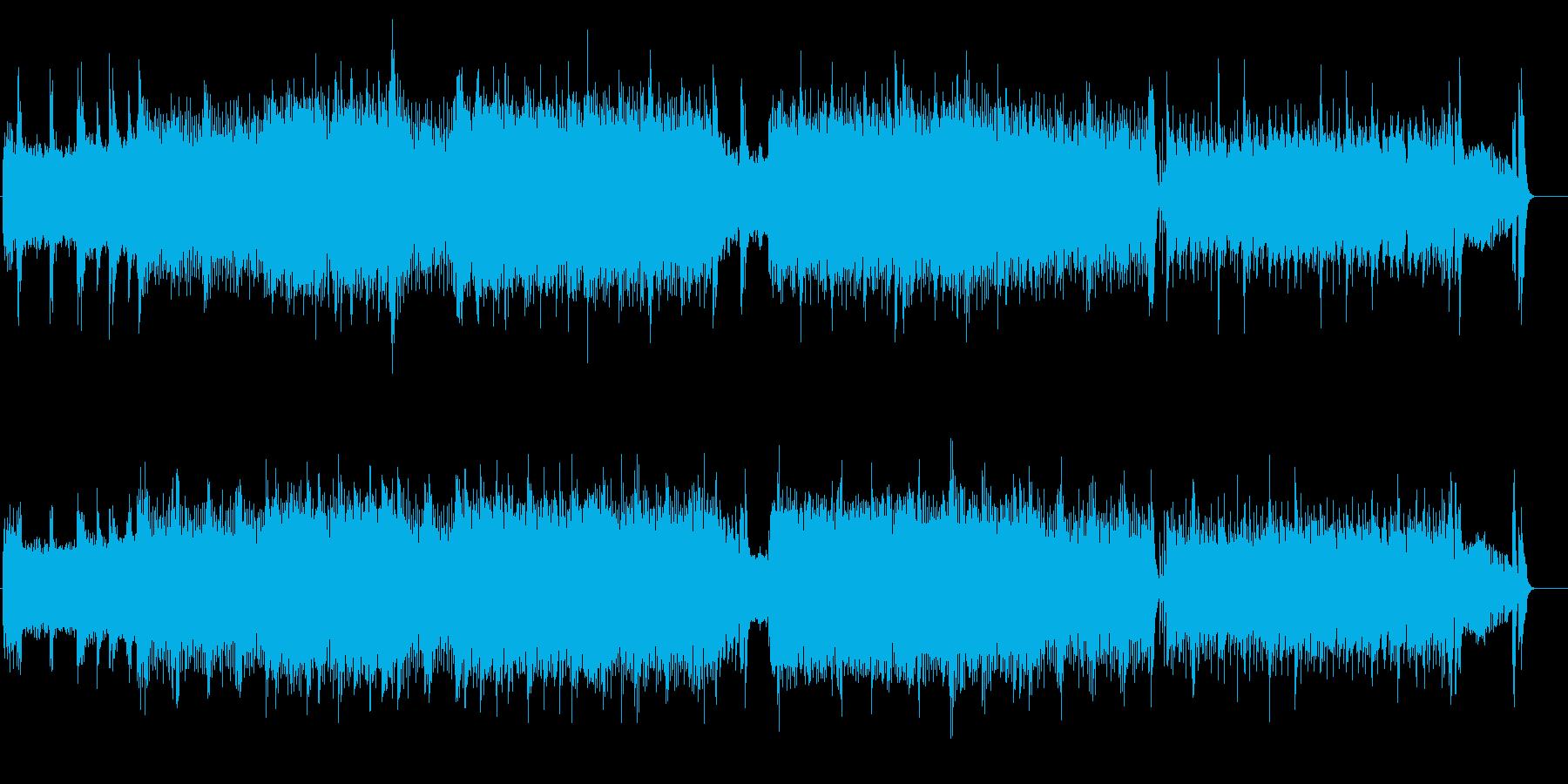 ギターが唸るHEAVY METALの再生済みの波形