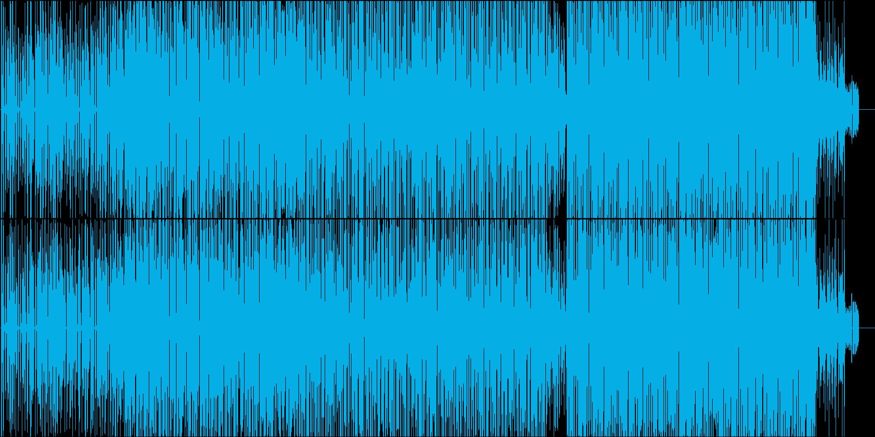 おしゃれでテンポ感のある電子音楽の再生済みの波形
