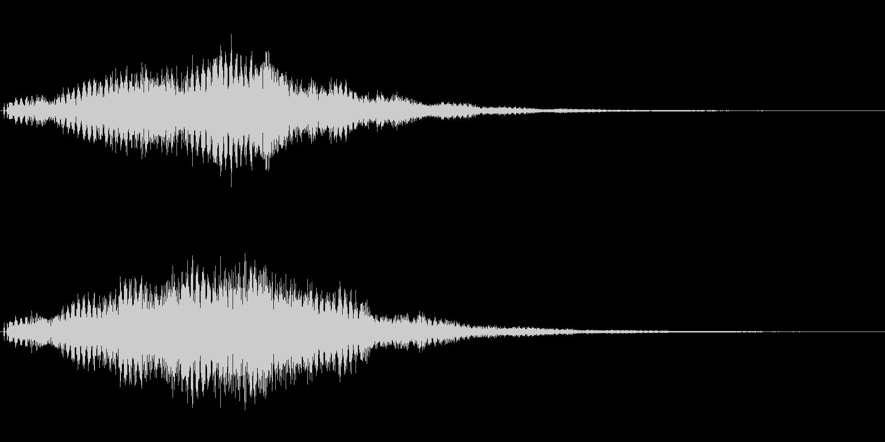 シンセの広がるようなサウンドロゴ。の未再生の波形