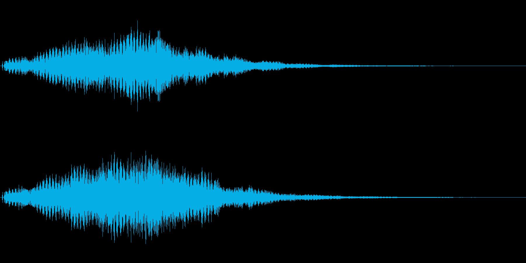 シンセの広がるようなサウンドロゴ。の再生済みの波形