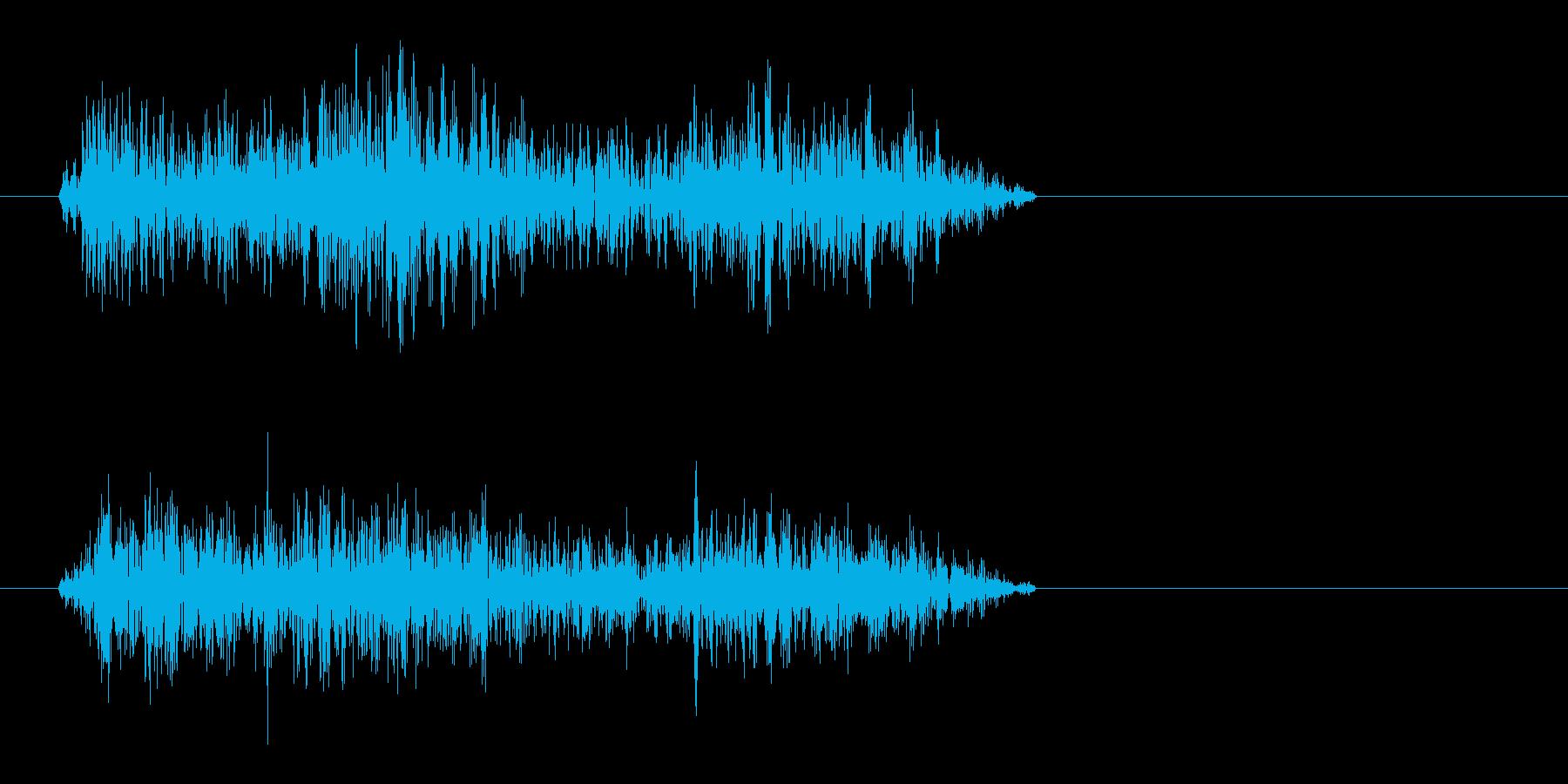 シャー(短めの高い音)の再生済みの波形