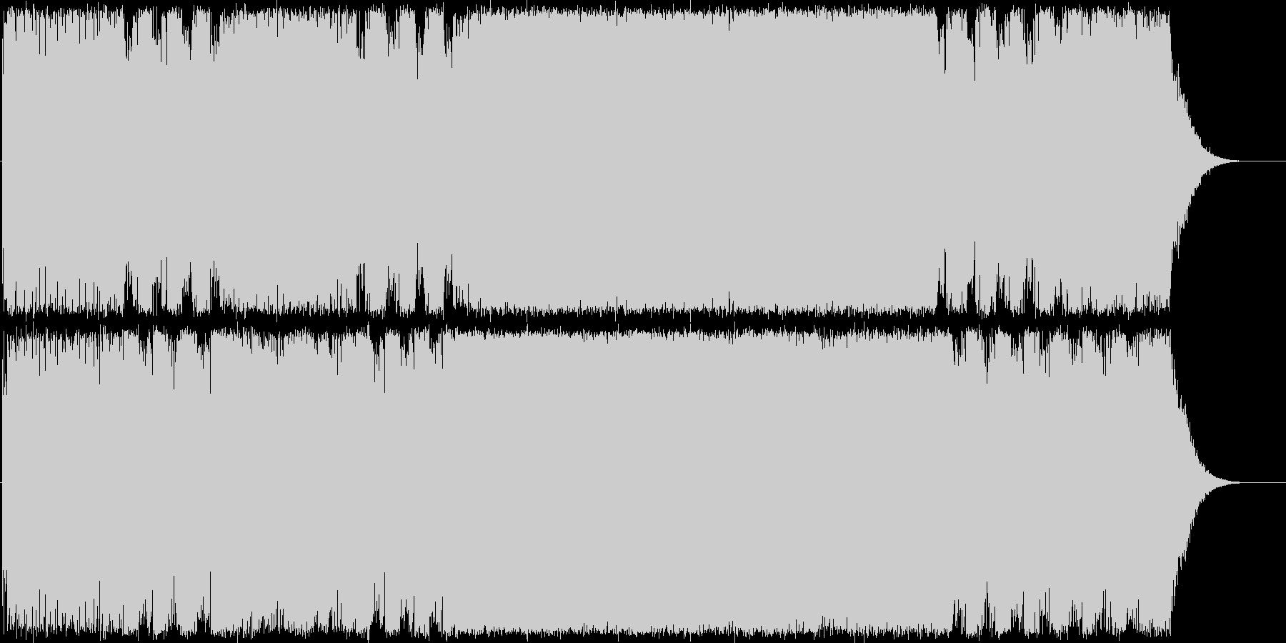 重低音ギターインストスピードメタルの未再生の波形