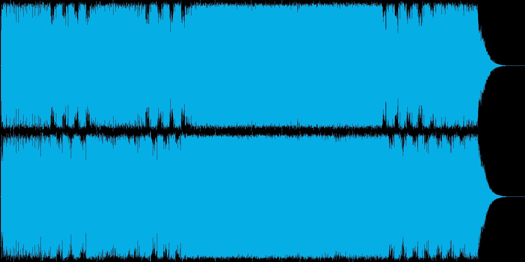 重低音ギターインストスピードメタルの再生済みの波形