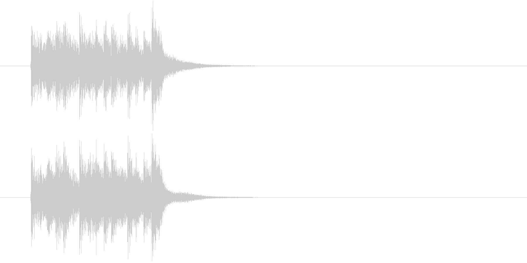 ジングル(知的でタイト)の未再生の波形