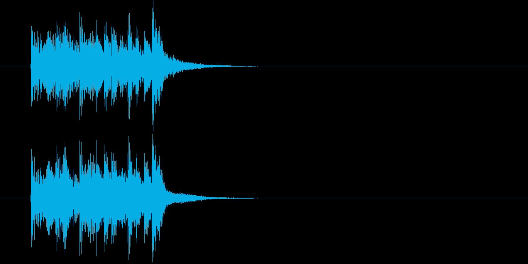 ジングル(知的でタイト)の再生済みの波形