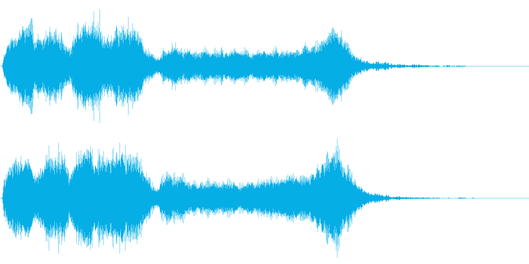 華やかで明るいファンファーレ4 金管のみの再生済みの波形