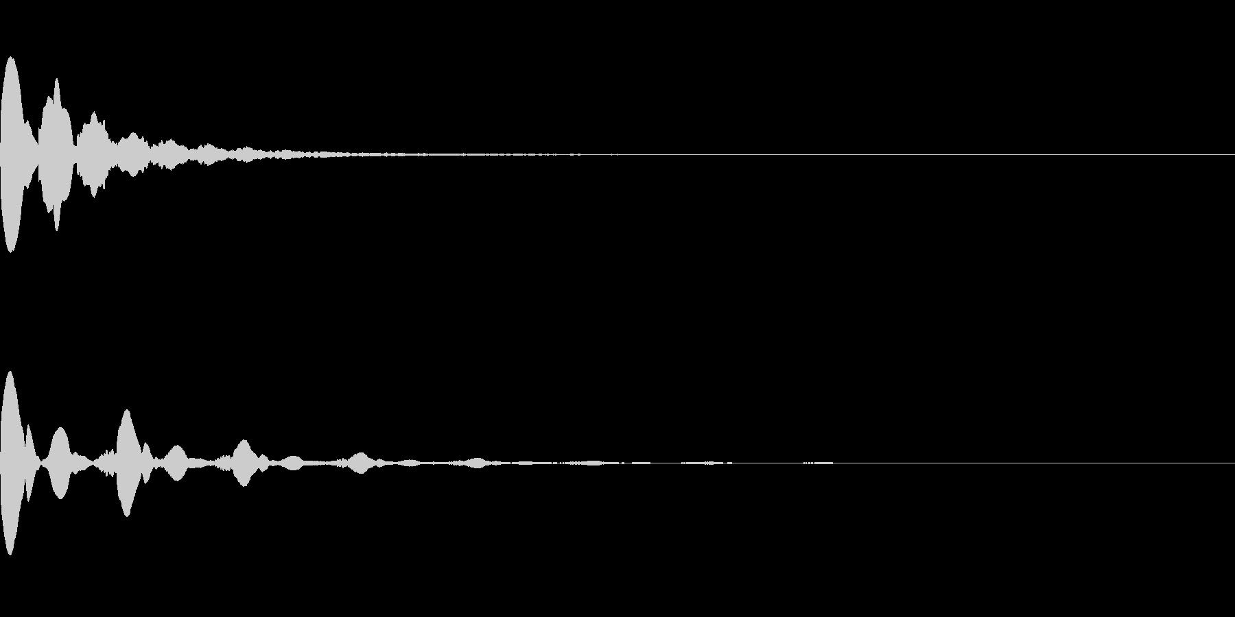 ピピピ音(場面転換や緊迫感を出す)の未再生の波形