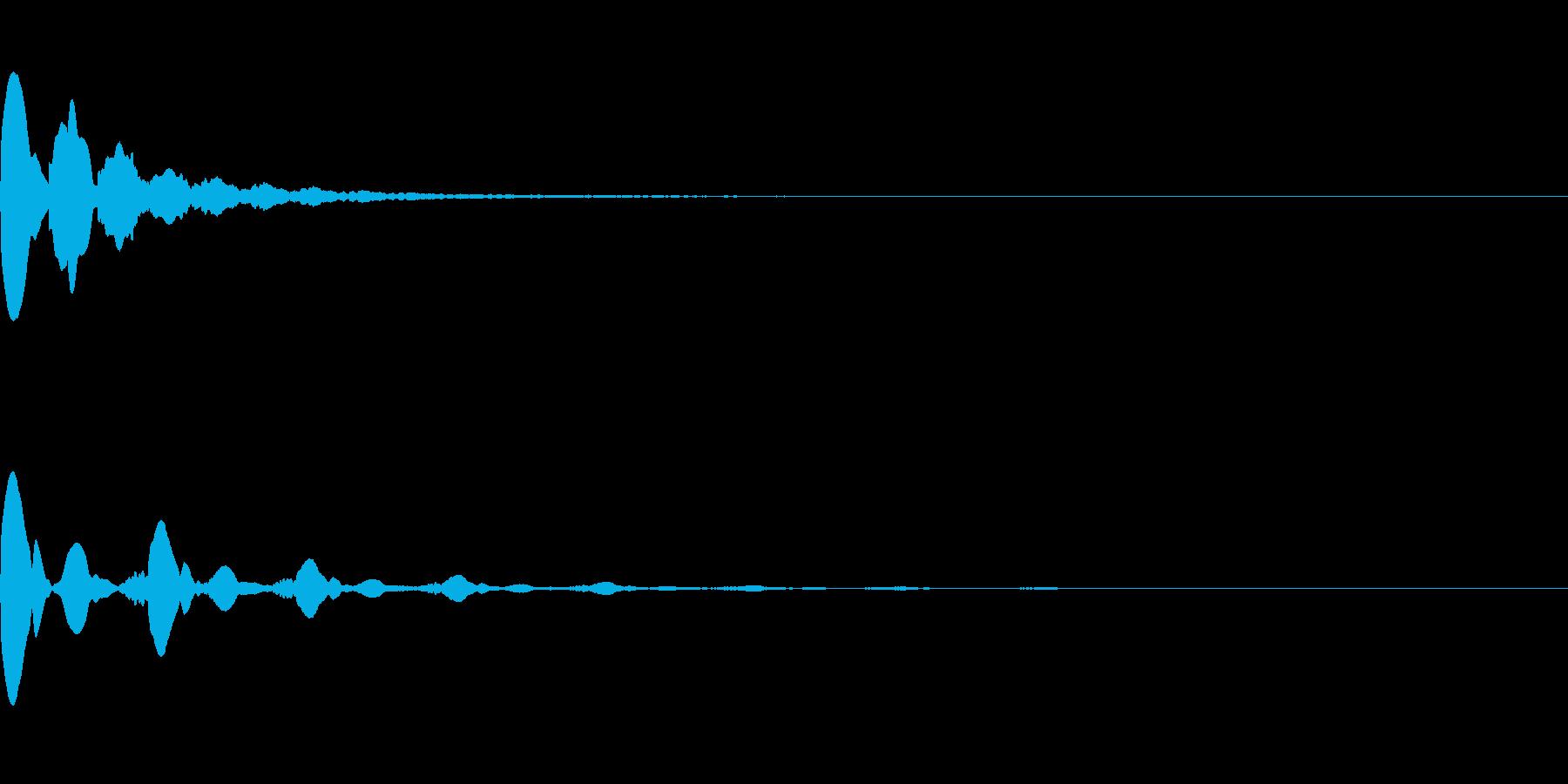 ピピピ音(場面転換や緊迫感を出す)の再生済みの波形