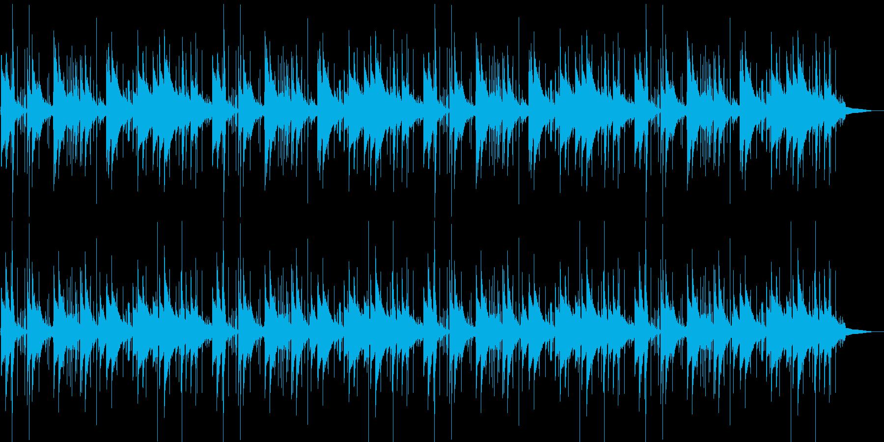 鉄琴とアコギの近代的なポップスの再生済みの波形