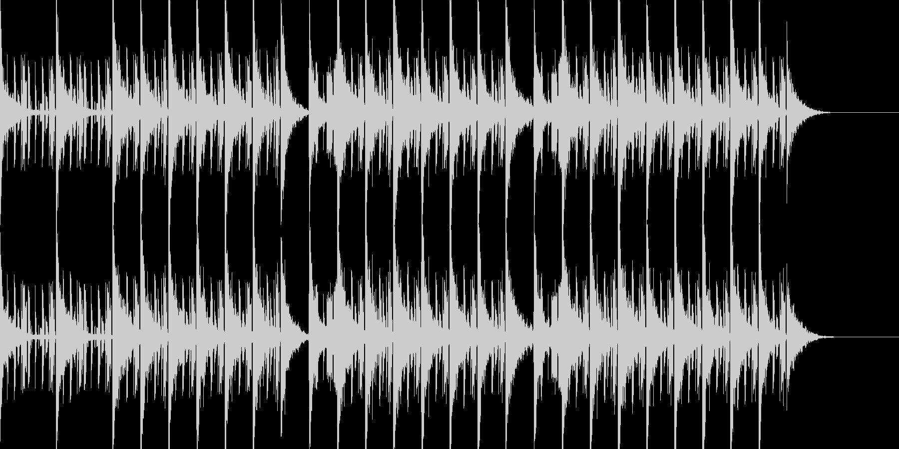 スペイシーで切ないエレクトロニカビートの未再生の波形