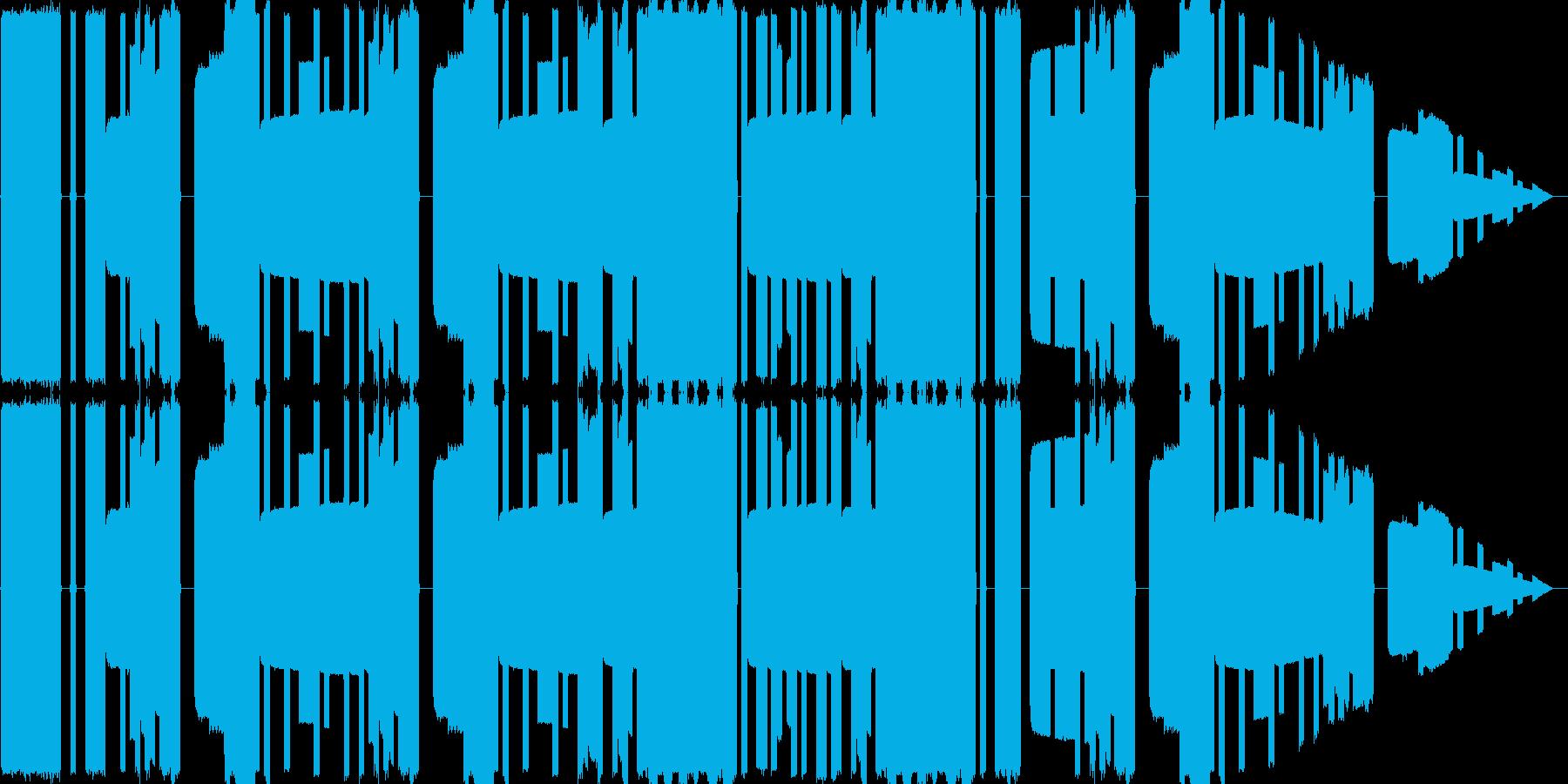 ピコピコ音源の陽気なループ曲の再生済みの波形