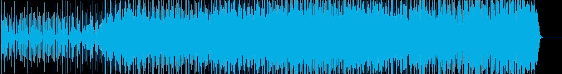 前向きなマーチ風ジングルの再生済みの波形