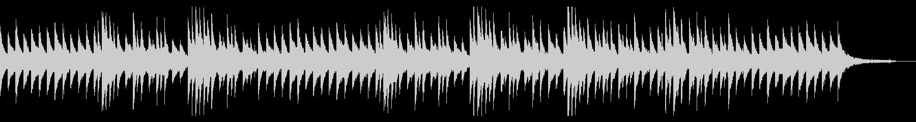 淡々とした冷たい印象のピアノBGMの未再生の波形