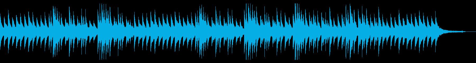 淡々とした冷たい印象のピアノBGMの再生済みの波形