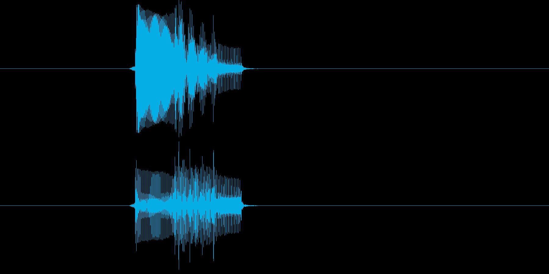 ゲームのカーソル音や決定音にピッタリな…の再生済みの波形