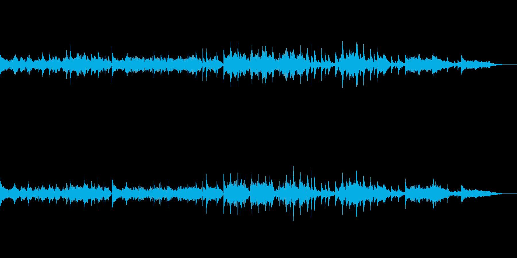 深い悲しみのピアノソロ曲の再生済みの波形