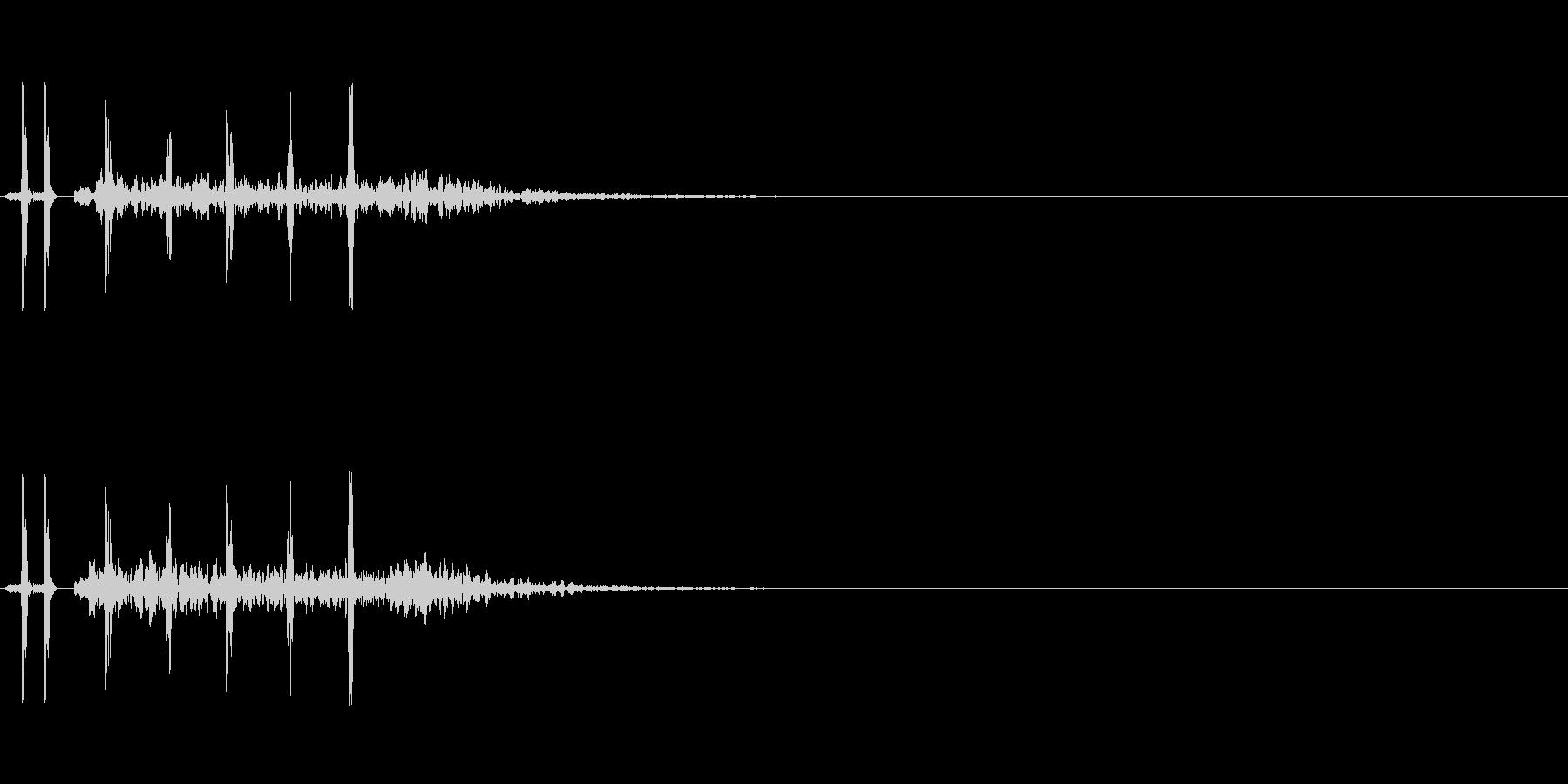 発砲音 3連射の未再生の波形