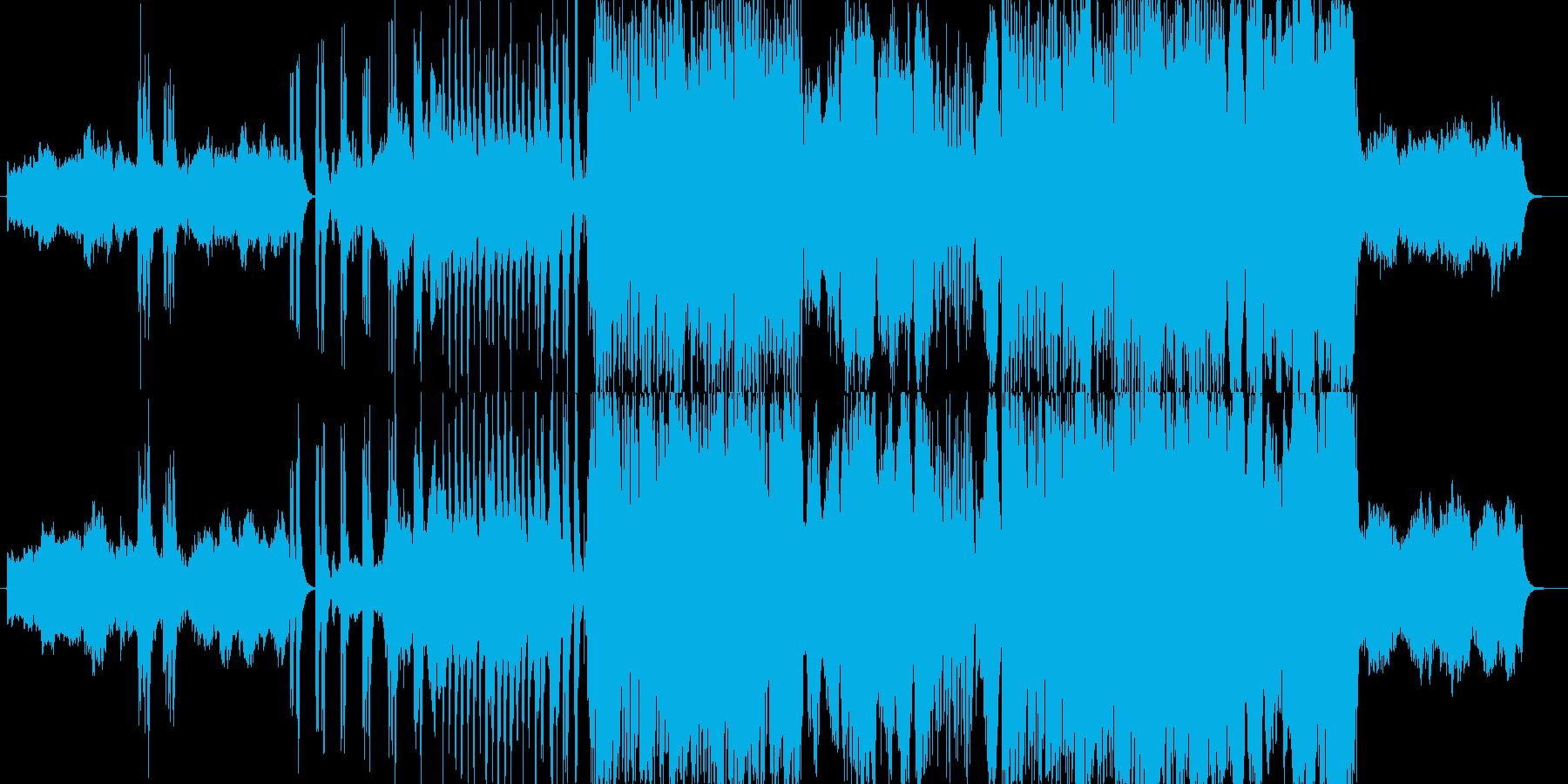 暗さの中にも勇壮さがあるストリングス曲の再生済みの波形