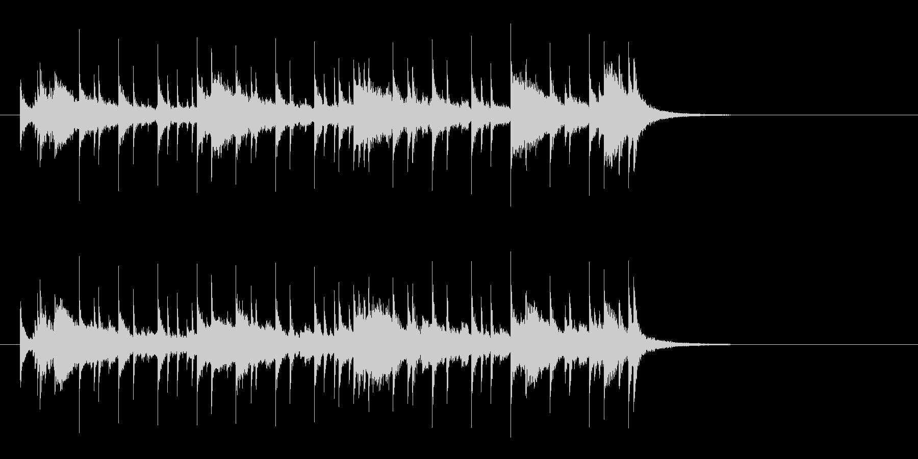 オープニング向きの透明感のあるサウンドの未再生の波形