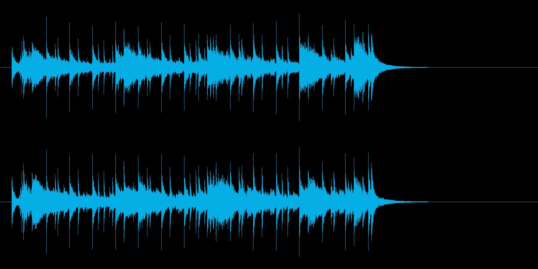 オープニング向きの透明感のあるサウンドの再生済みの波形