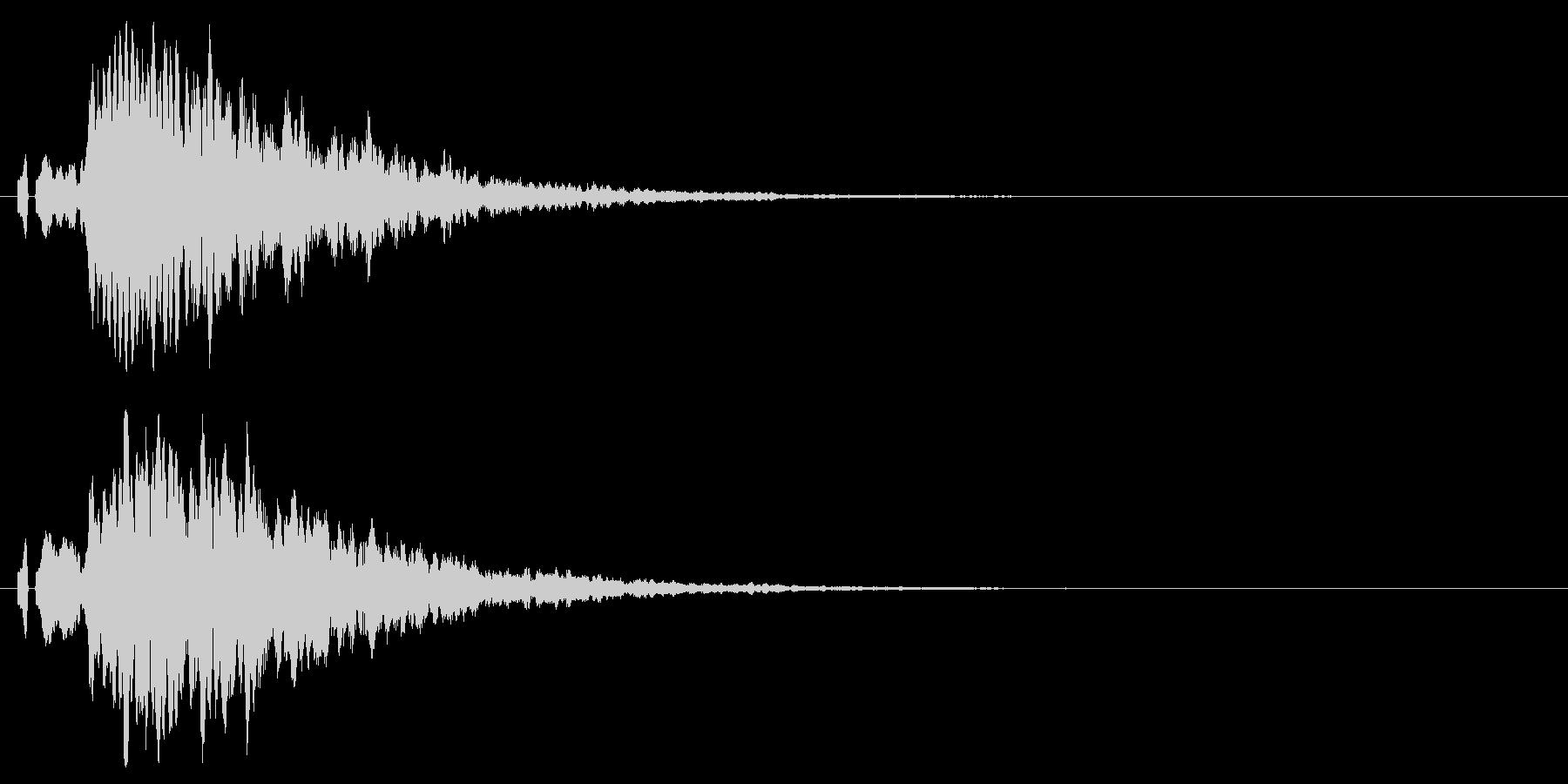 シンプルな注意、警告音、警報の効果音01の未再生の波形