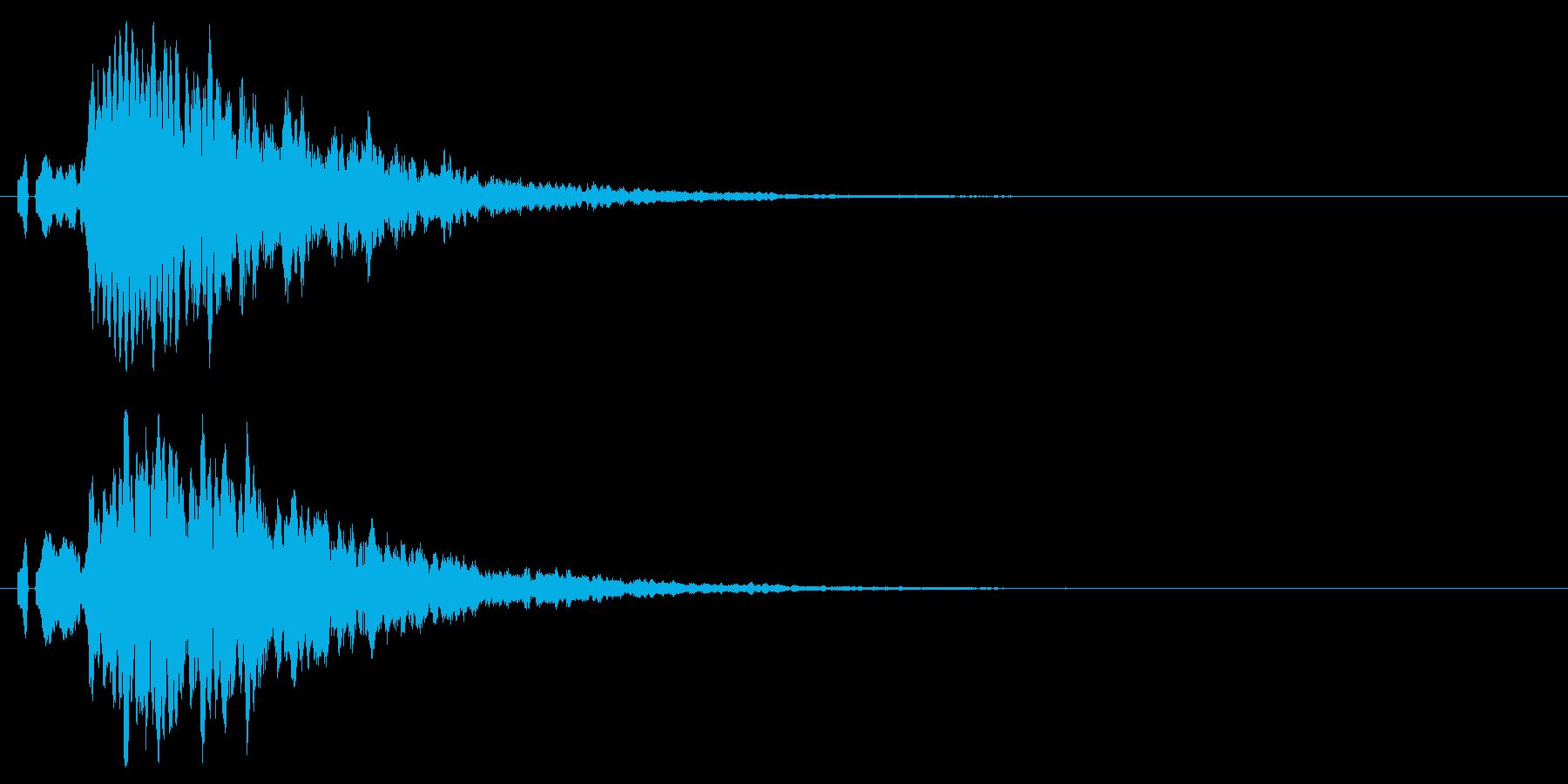 シンプルな注意、警告音、警報の効果音01の再生済みの波形