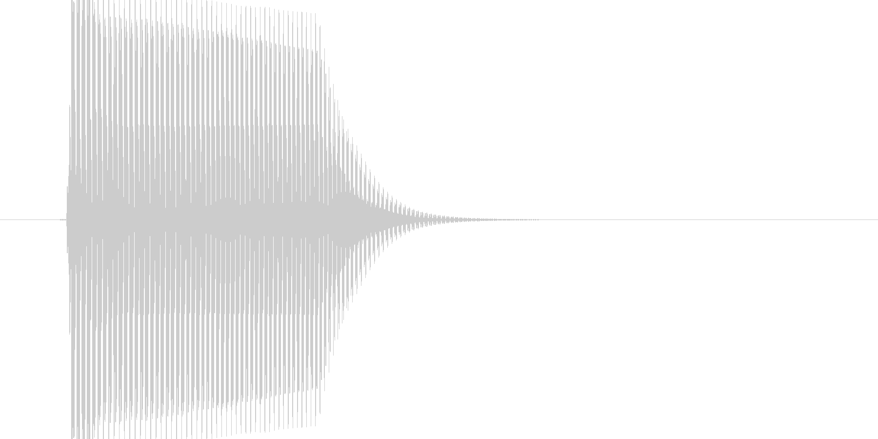 弾力感のある選択音の未再生の波形